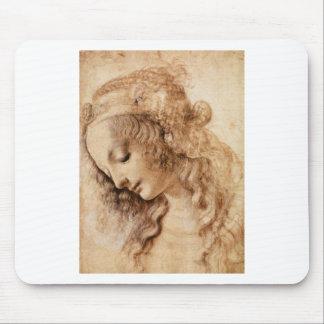 Leonardo Woman Head Mousepads