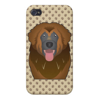Leonberger Cartoon Cases For iPhone 4