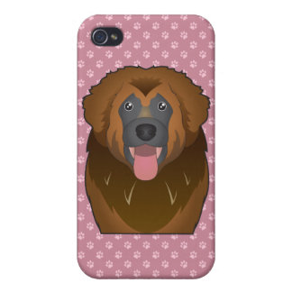 Leonberger Cartoon Case For iPhone 4