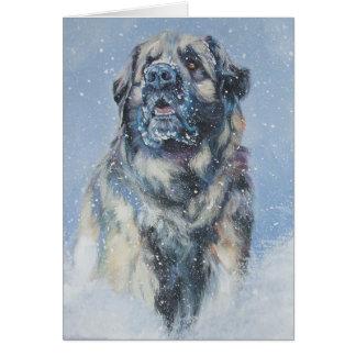 Leonberger Christmas Card