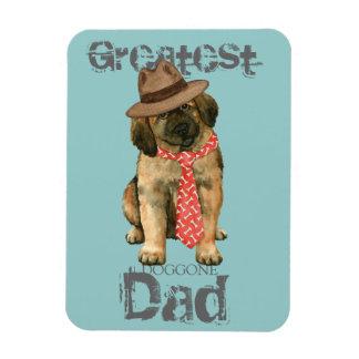 Leonberger Dad Rectangular Photo Magnet