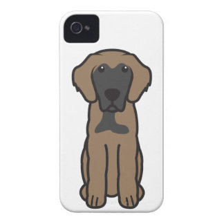 Leonberger Dog Cartoon iPhone 4 Covers