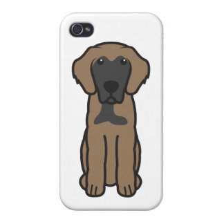 Leonberger Dog Cartoon iPhone 4/4S Cover