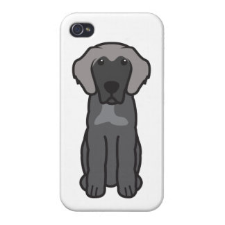 Leonberger Dog Cartoon Cases For iPhone 4