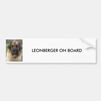 Leonberger dog custom BUMPER STICKER, gift Bumper Sticker