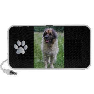 Leonberger dog doodle speakers, gift idea speakers