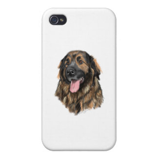 Leonberger Head Study iPhone 4 Cases