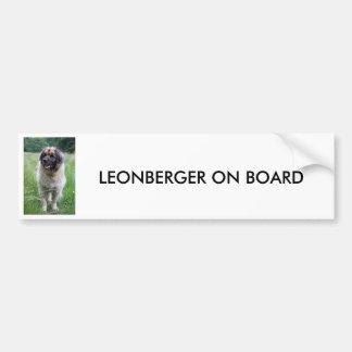 Leonberger, Leonberger on board BUMPER STICKER
