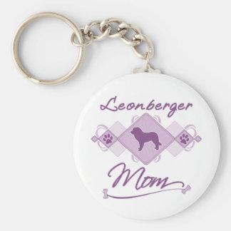 Leonberger Mom Basic Round Button Key Ring