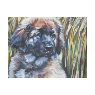 leonberger Painting on Gallery Wrapped Canvas