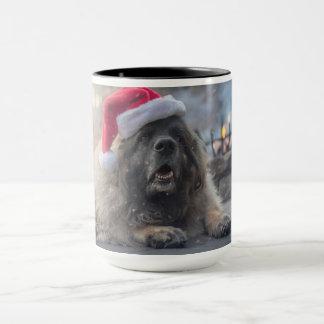 Leonberger Santa Mug