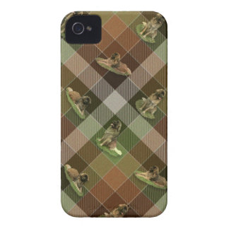 Leonberger Tartan iPhone 4 Cover