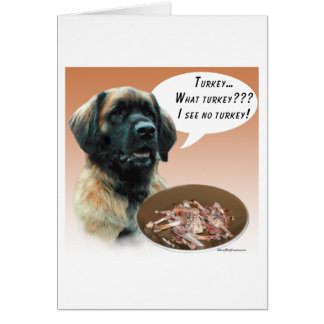 Leonberger Turkey Card