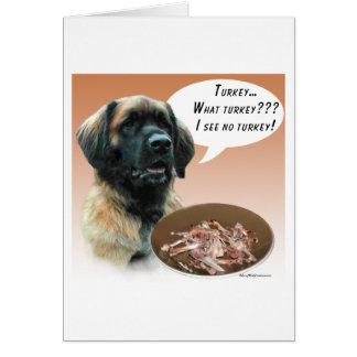 Leonberger Turkey Greeting Card