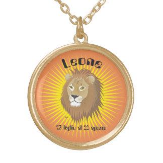 Leone 23 peeping Lio Al 22 agosto Collana Round Pendant Necklace