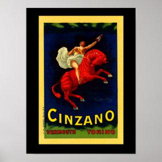 """Leonetto Cappiello Art Deco Poster """"Cinzano"""""""
