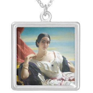 Leonilla Princess of Sayn Wittgenstein Square Pendant Necklace