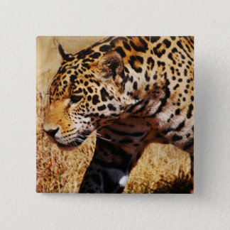 Leopard 15 Cm Square Badge