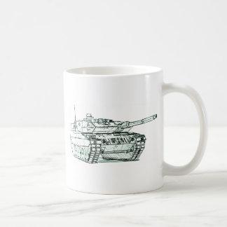 Leopard 2 tank coffee mug