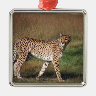 leopard 3 christmas ornament