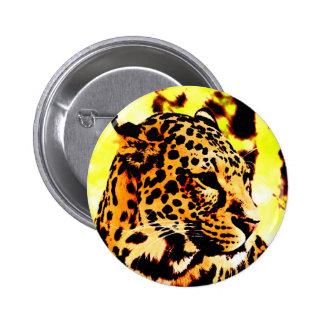 Leopard 6 Cm Round Badge