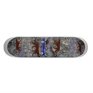 Leopard and Classic Car 21.6 Cm Old School Skateboard Deck