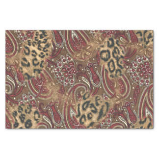 Leopard and Paisley Pattern Print Tissue Paper