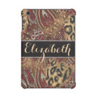 Leopard and Paisley Pattern Print to Personalise iPad Mini Cover