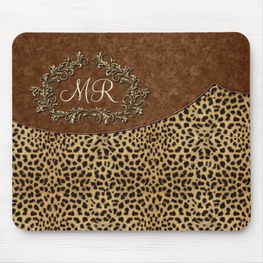 Leopard and Swirls Mouse Mat