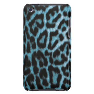 Leopard Animal Blue Black Pattern Print Barely There iPod Cover