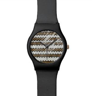 leopard animal print chevron watch