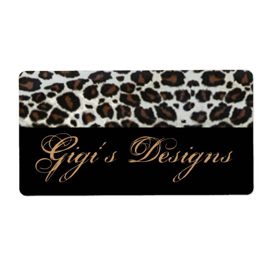 Leopard animal print handmade labels