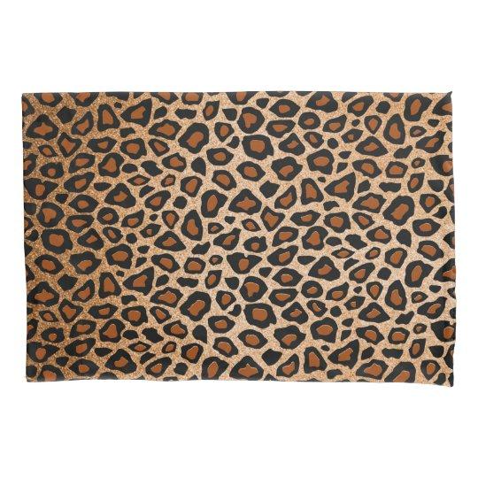 Leopard Animal Print in Gold Copper Pillowcase