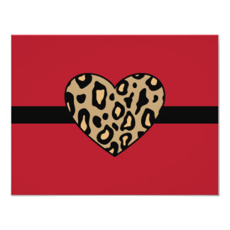 Leopard Animal Print Invitations