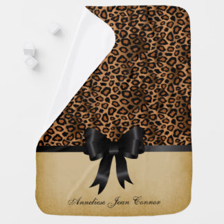 Leopard Animal Print Pattern Baby Blanket