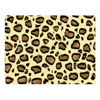 Leopard Animal Print Pattern Post Cards