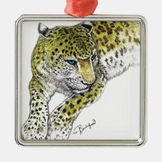 Leopard Art Print Christmas Ornament