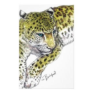 Leopard Art Print Stationery