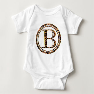 leopard B Baby Bodysuit