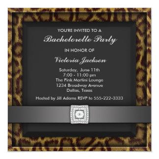 Leopard Bachelorette Party Invitation