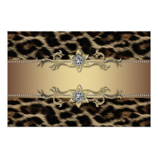 Leopard Birthday Party Banners Poster