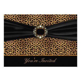 Leopard Black All Occasion Invitation Template