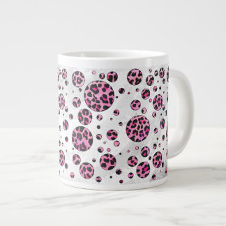 Leopard Black and Hot Pink Print Jumbo Mug