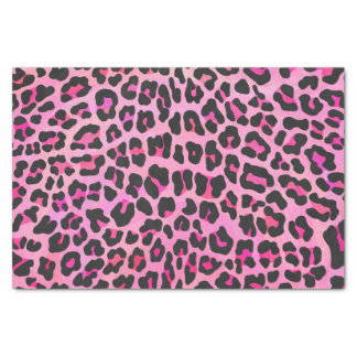 Leopard Black and Hot Pink Print Tissue Paper