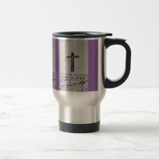 Leopard Black Cross Stainless Steel Travel Mug