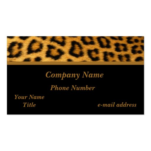 Collections of leopard animal print business cards leopard business cards colourmoves Image collections