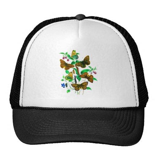 Leopard Butterflies and Red Raspberries Trucker Hat