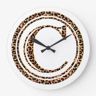 leopard C Large Clock