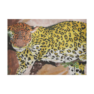 Leopard Stretched Canvas Prints