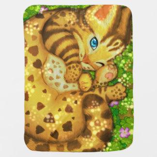 Leopard cat Baby Blanket